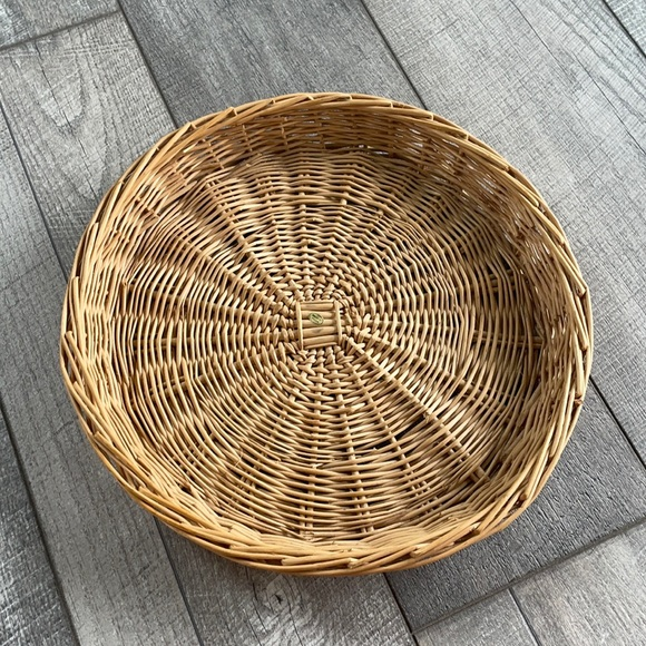 Urban Outfitters Wicker Style Hanging Basket/Trey